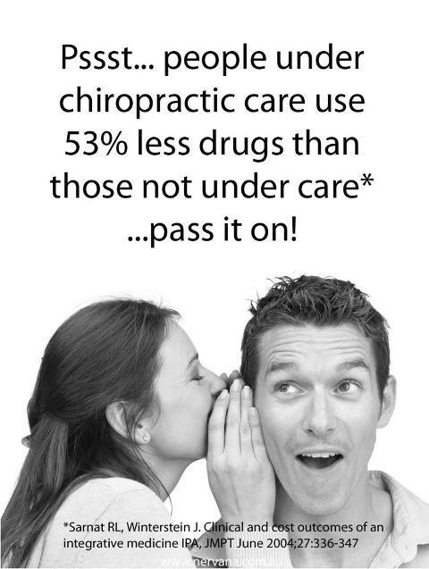 People Under Chiropractic Care Use Less Drugs image